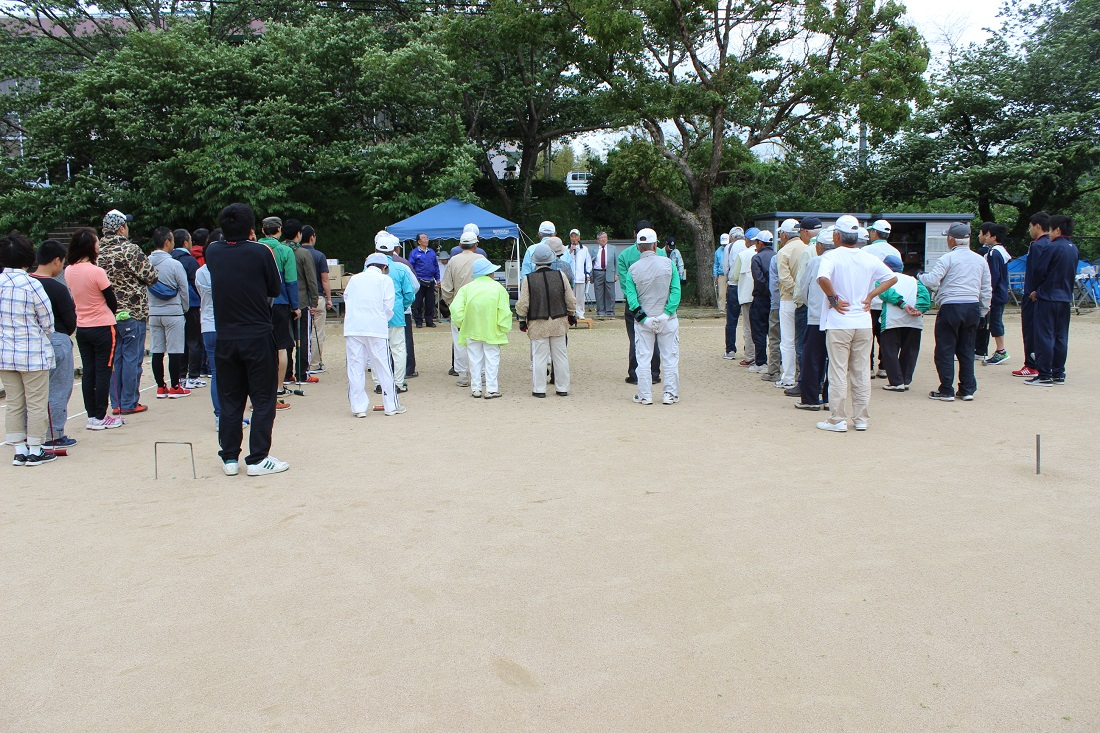 第6回大山病院ゲートボール大会 開会式